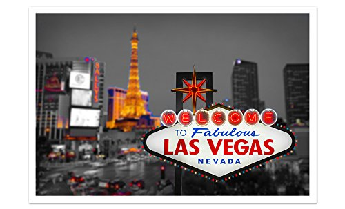 Las Vegas Touch of Color Skyline 36x24 Matte Poster Paper Wa