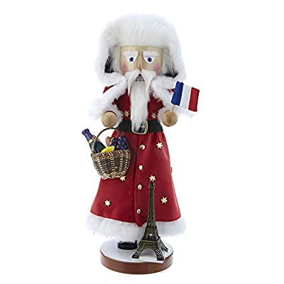 Kurt Adler ES1969 18.5-inch Steinbach French Santa Nutcracker Ornament