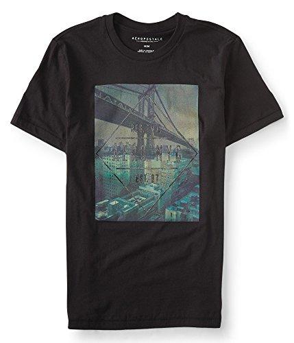 Aeropostale Photo Graphic Shirt Black