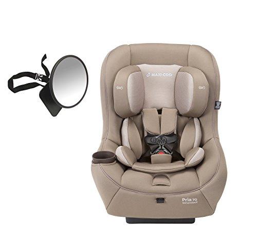 2016 Maxi-Cosi Pria 70 Convertible Car Seat, Brown Earth with BONUS Back Seat Mirror