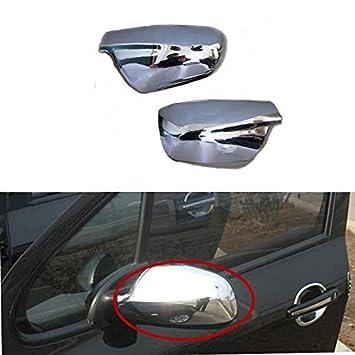 Carcasa para espejo retrovisor de puerta de 307 CC SW 407 2004 - 2012 accesorios de coche estilo (2 unidades): Amazon.es: Coche y moto