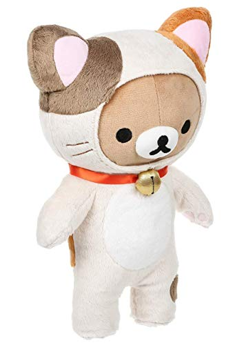 Rilakkuma Cat Plush | Brown & White Neko Plushie 2