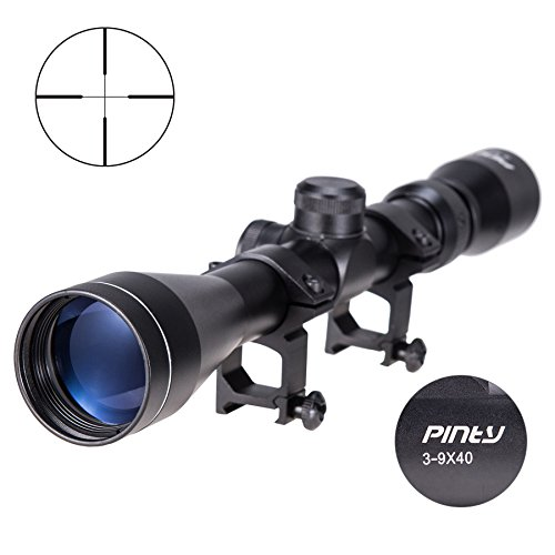 Pinty Rifle Scope 3-9x40 Optics R4 Reticle Crosshair Air Sniper Hunting Rifle Scope