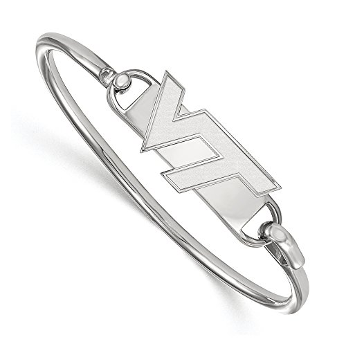 NCAA Sterling Silver Virginia Tech Bangle, 6 inch by LogoArt