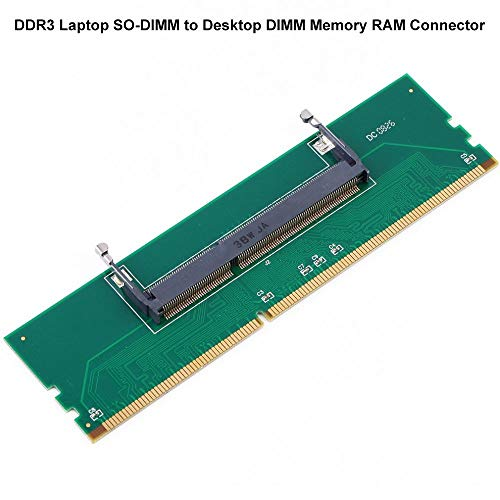 DDR3 Laptop SO-DIMM to Desktop DIMM Memory RAM Connector Adapter 204 Pin to 240 Pin Card -