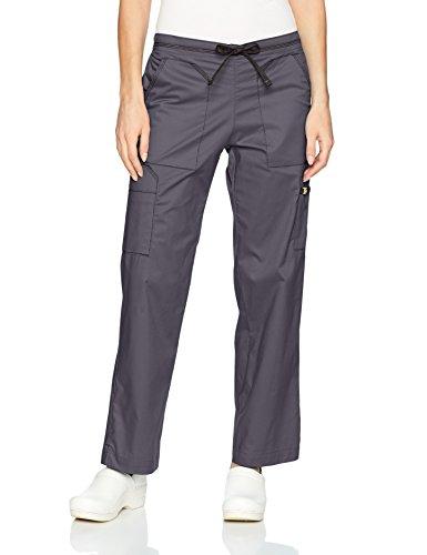 WonderWink Women's Utility Cargo Pant, Pewter, LG ()