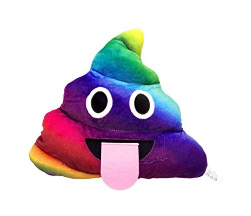 Rainbow Poop New Emoji Smiley Emoticon Cushion Pillow Stuffed Plush Toy Doll Poop Face Bed Pillow Home Living Room Decoration Pillows