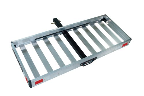 Tricam ACC-1F Hitch Mounted Aluminum Cargo Carrier, 500-Pound Capacity, 50-Inch by 20-Inch (Aluminum Rear Rack)
