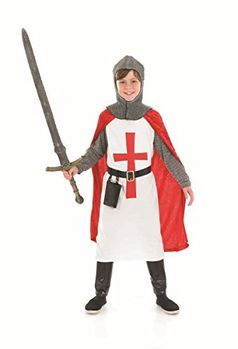 St George Crusader Costume (St George Crusader Knight - Childrens Fancy Dress Costume by fun shack)