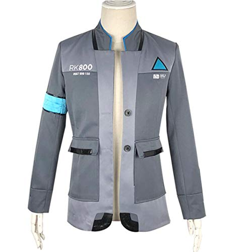NSOKing Hot Anime Game Become Human Cosplay Jacket Kara Connor Costume Coat (Large, Gray) by NSOKing
