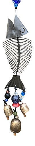 Long Nose Butterfly Fish (Spanish Bone Fish With Glass Beads 28 in Long Wind Chime)