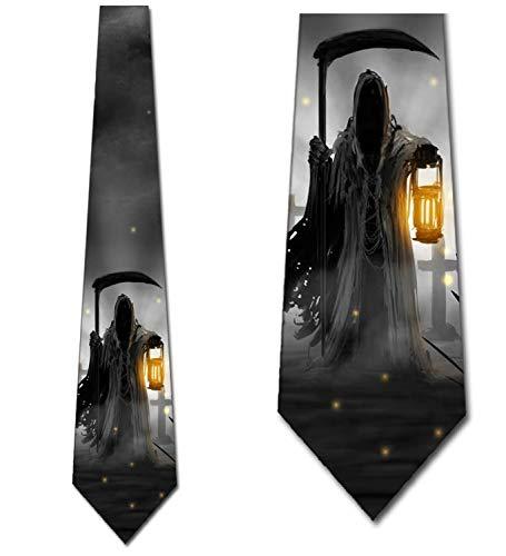 Halloween Tie Grim Reaper Mens Neckties by Three Rooker -