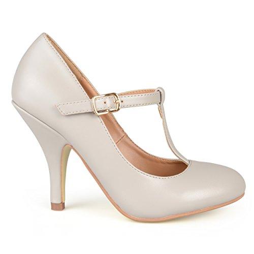 Brinley Co Womens Nelson 03 Dress Pump Regular E Large Sizes Gray Smooth