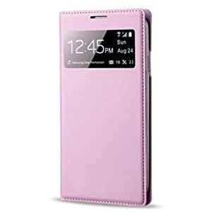 Changeshopping Leather S-View Window Flip Case Cover For Samsung Galaxy S4 IV i9500 (Pink)