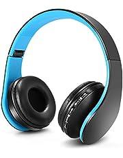 Zapig Draadloze kinderhoofdtelefoon met microfoon, draadloze Bluetooth-hoofdtelefoon voor kinderen, opvouwbare bluetooth stereo over-ear kinderhoofdtelefoons-blauw