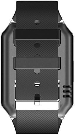 HAMSWAN® Bluetooth 3.0 1.56 Inch SIM Card Digital Android Smartwatch Men Women Sport Wristwatch for HTC/Sony/Samsung/LG/Moto Smart Phone (Silver)