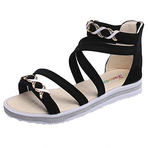 Sentao Sandalias Para Mujer Zapatos de La Playa de Bohemia del Verano Zapatillas EoB5iMC