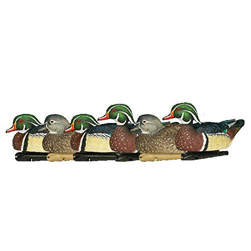 AvianX Top Flight Wood Duck Floater Decoy (6 Pack), Brown