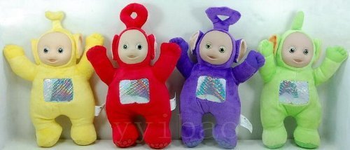 Lala Teletubbies - Teletubbies Set of 4 Plush Dolls