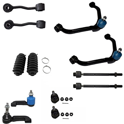 (Detroit Axle - 12pc Front Suspension Kit for 2002 2003 2004 Jeep Liberty 2.4L & 3.7L - Front Upper Control Arms w/Ball Joints - Lower Ball Joints - Inner Outer Tie Rod Ends - Front Sway Bar End Links)