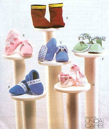 Vogue Patterns V7707 Baby Booties Package, in One Envelope