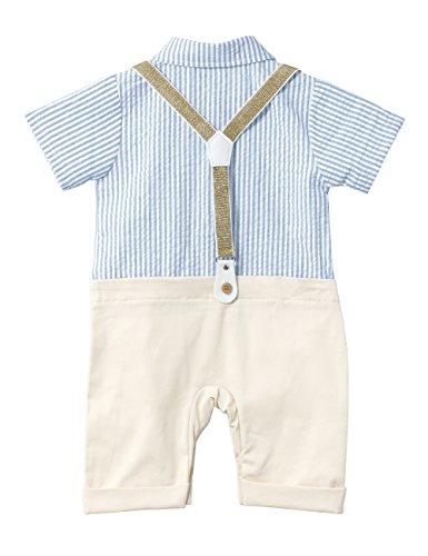 d4c6cb454 HeMa Island HMD Baby Boy Gentleman White Shirt Bowtie Tuxedo Onesie ...