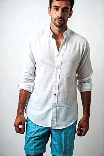 Camisa de Lino con diseño de Caballito de mar, Ajustada ...