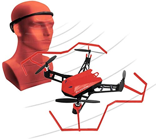 Mooseng [ 2019 New Technology romatpretty Mind, Quadcopter Drone with 1080P HD Camera for Beginners Idea Control, Automatic Hover, Follow Mode, App Contral, One Key Take Off/Landing, Red by Mooseng