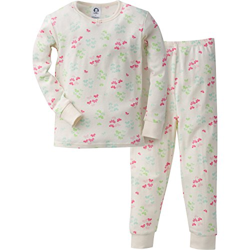 Gerber Girls' 2 Piece Cotton Pajama, Butterflies, 24 Months