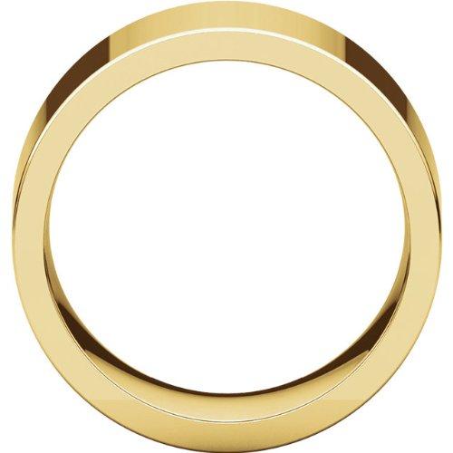 Mens 14K Yellow Gold, Flat Comfort Fit Wedding Band 10MM (sz 8)