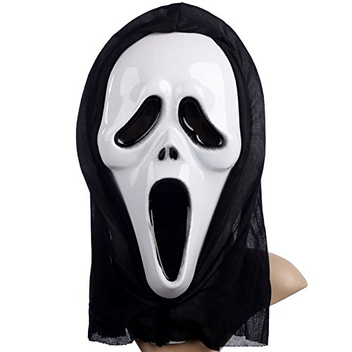 Explanation Of Halloween (yuhqc Halloween Horror Grimace Ghost Mask Full Face Ghost Hoods Balaclava Costume Headwear Tactical Hood for Cosplay Party Halloween Cycling Skiing Hunting)