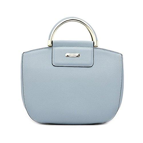 Yuntun New Handbag European Style Portable Shoulder Diagonal Packet(blue)