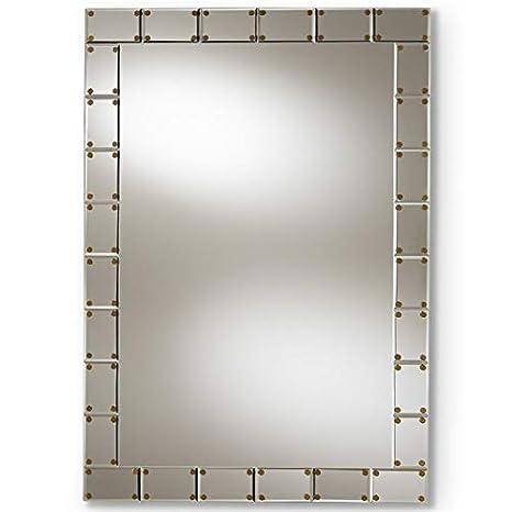 Amazon.com: Baxton Studio Almeria Decorative Wall Mirror in ...