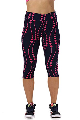 Ancia Womens Exercise Workout Capri Leggings Yoga Zumba Tights Pants(#40,L) (Leggings Capri Cargo)