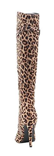 Giovani Donne Womens Leatherette Trendy Slouchy Genou Haute Plat Automne Hiver Botte Chameau