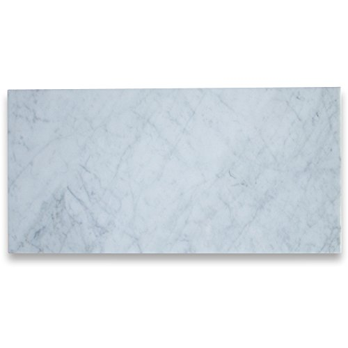 (Carrara White Italian Carrera Marble 12x24 Tile Polished - 200 sq.ft.)