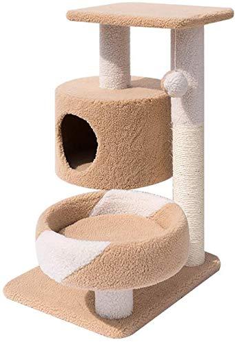 FTFDTMY Kleine Katze Klettergerüst, Wohnzimmer Spielzeug Haustier Möbel Kratzbaum Multifunktionskatze Haus Katze Scratch…