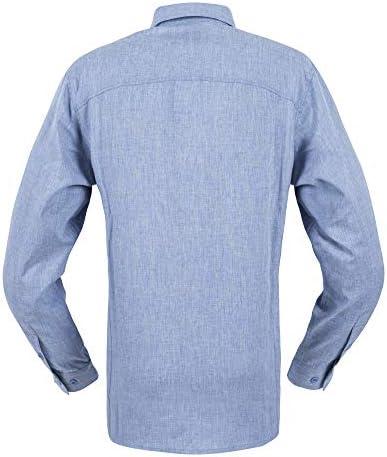 Helikon Defender Mk2 Gentleman Shirt Long Sleeve Mens Work Melange Light Blue