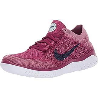 Nike Women's Free RN Flyknit Raspberry Red/Blue Void 9 B US