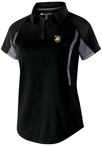 Ouray Sportswear NCAA Army Black Knights Women's Avenger Short Sleeve Polo, Large, Black/Graphite