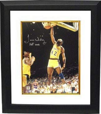 2003 Deluxe Framed - James Worthy Autographed Signed Los Angeles Lakers 16x20 Photo HOF 2003 Custom Deluxe Framed - Certified Authentic