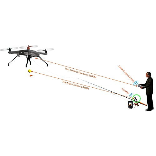 speedwolf vajra80 fishing uav drone gps and compass