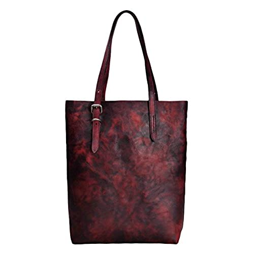 88ba18839e outlet ZLYC Women Vintage Handmade Dip Dye Leather Classic Casual Tote Shoulder  Bag