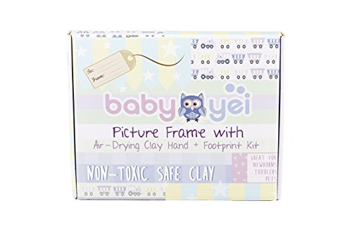 Baby Handprint Picture Frame Clay Kit for Newborn Girls and Boys by Baby Yei - The Photo Frames are Fully Painted White-Prevents Mold Creation-Safe for Treasuring your Angel's First Precious Memories by Baby Yei (Image #1)