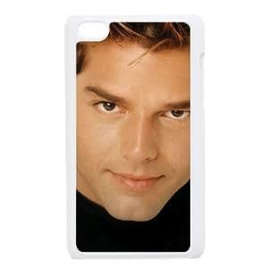 Ricky Martin funda iPod Touch 4 caja funda del teléfono celular blanco cubierta de la caja funda EEECBCAAJ06036