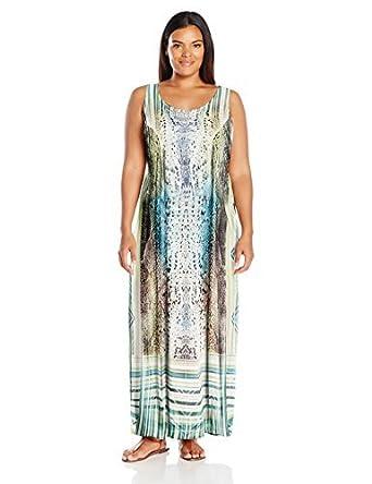One World Women\'s Plus Size Sleeveless Sublimation Print ...