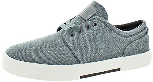 Polo Ralph Lauren Men's Faxon Low Sneaker Slate Vintaged Cotton online cheap authentic Ct54TkQgqw