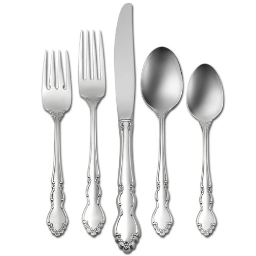 Oneida Dover 46-Piece Stainless Flatware Set, Service for 8 with Bamboo Drawer Organizer