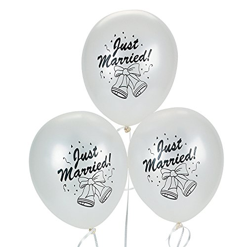DOMAGRON Novelty Married Balloons 11 Inch