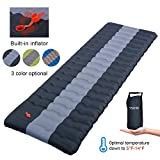 YSXHW Self Inflating Camping Pads Thick 4.7 Inch Lightweight Camping Sleeping Pad Ultralight,Compact, Waterproof PVC Inflatable Mat for Tent, Hiking and Backpacking -Black Built in Pump
